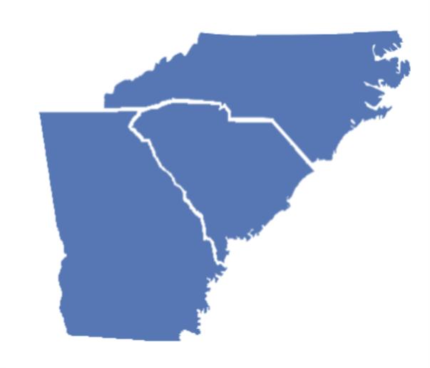 Region 6 Comprehensive Center Map